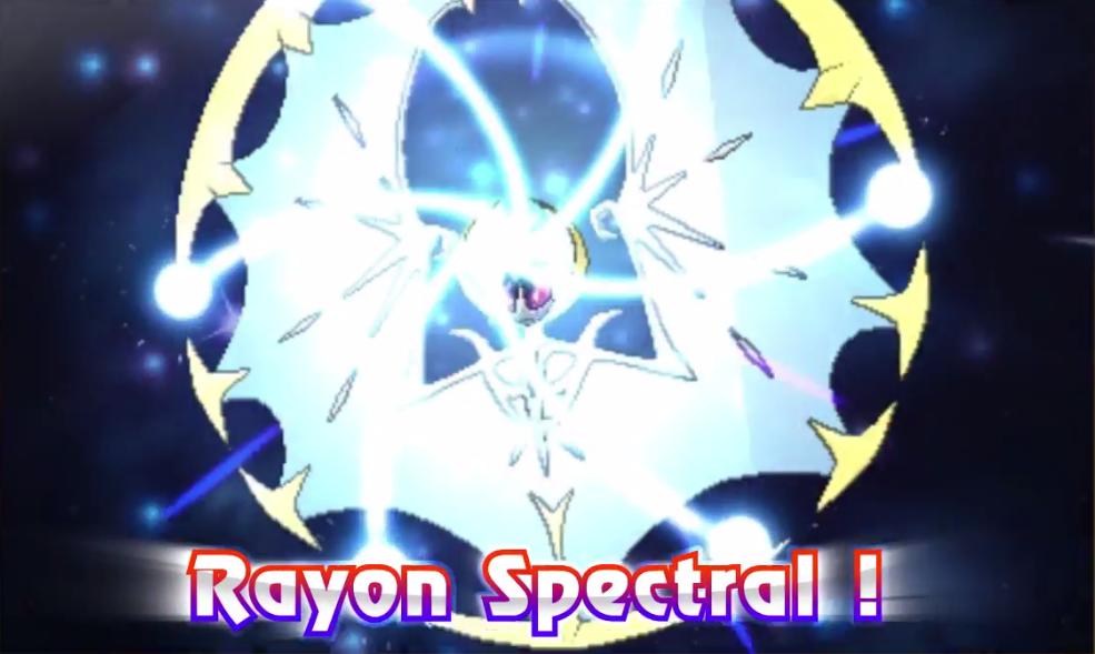 Pokémon Lunala Rayon spectral